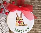 Kitty Reindeer Christmas Ornament, 2016 Christmas Ornament Personalized Christmas Ornament, Cat Ornament, Pet Ornament, Christmas Decoration