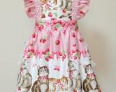 Apron / Full Apron / Lolita Apron / Dress Apron - Cat Berry