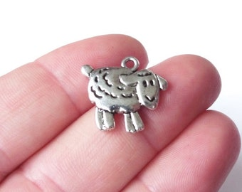 50 Sheep (double sided) Charms 18x16x3mm