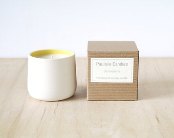 chamomile soy wax candle : SALE