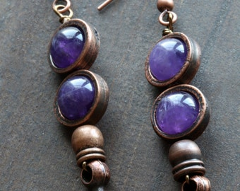 Earrings with Gorgeous Amethyst