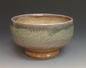 Ice Cream Bowl. Soup / Cereal / Oatmeal Bowl.  Soda Fired Stoneware Pottery