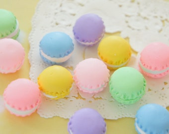 16 pcs Polymer Clay Tiny Macaroon Cabochon (15mm H11mm) CD652 (((LAST)))