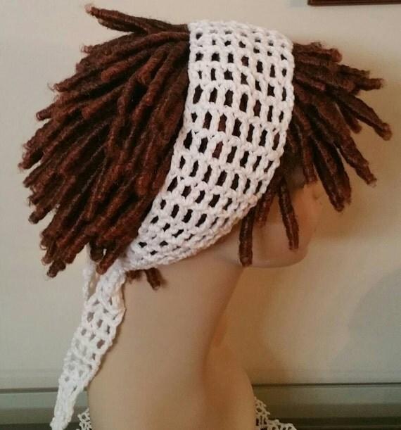 Cotton White Dread Headband