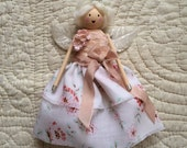 Unique Fairy Doll with Vintage and Antique Trimmings - Peony