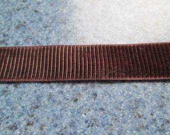 Brown Velvet Grosgrain Ribbon