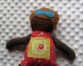 Isabella Small Handmade Fabric Baby Doll