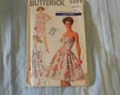 Vintage Butterick Misses Jacket and Dress Pattern #3451 Uncut Size 12 thru 16