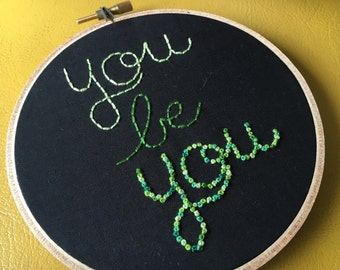 you be you- green hoop
