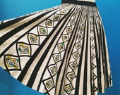 RESERVED 1950s Mexican Painted Skirt