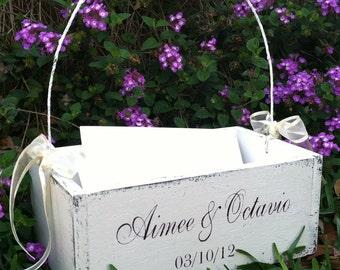 WEDDING CARD BOX, Card Holder, Wedding Program Holder, Bride and Groom, Wedding Decor, Gift Table Sign, 10 x 6