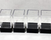 Lot of 6 Small Clear Plastic Display Box Cases Dustproof Showcase