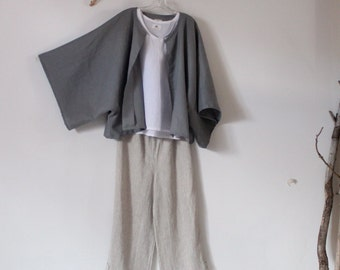 minimalist linen outfit three pieces handmade to measure petite to plus size