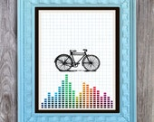 SALE Bike Print Includes 5 backgrounds Instant Digital Download DIY Print yourself