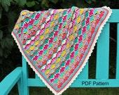 FRUITY BLANKET crochet pattern baby blanket pattern instant download