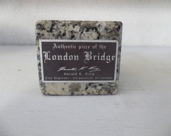 Authentic London Bridge Piece Candleholder
