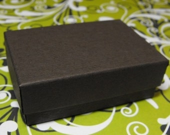 Summer Stock Up Sale 100 Pack Chocolate Brown 3.25X2.25X1 Inch Cotton Filled Jewelry Gift Retail Boxes