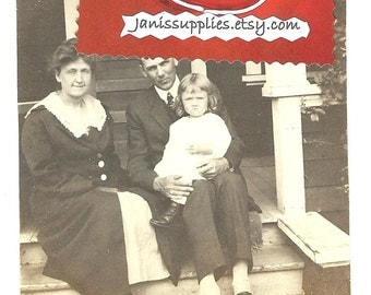 Vintage 1918 Farm Family Photograph