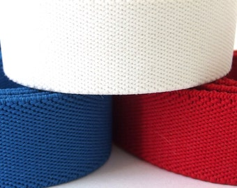 Vintage 1980's Red, White and Blue Elastic Belting