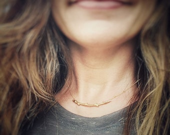 You are the Branches Gold Charm Necklace