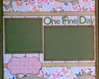 Premade Scrapbook Page 12 x 12 Handmade One Fine Day
