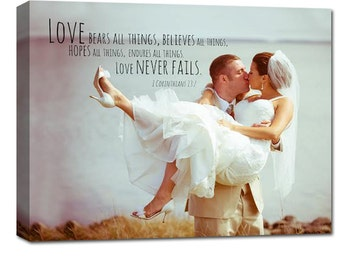 Personalized couple gift idea, First Dance Lyrics/ Custom Canvas / Your Wedding Photo with your Lyrics/ Vows  Holiday Photo Gift ideas
