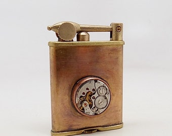 Steampunk  lighter. steampunk brass lighter.