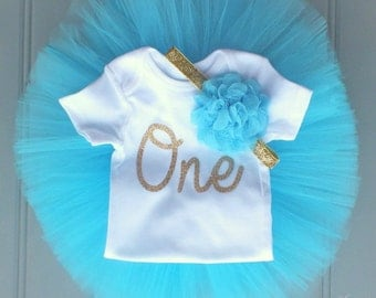 Turquoise Cake Smash Outfit Girl, First Birthday Outfit Girl, 1st Birthday Outfit,Tulle Skirt, 1st Birthday Tutu Skirt, First Birthday Tutu
