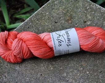 Merino/Nylon Superwash Sock Yarn - Tangerine Tango Colorway