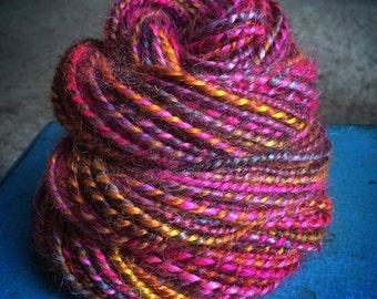 SALE Handspun Luxury Mohair Yarn in *Rock the Casbah* (52 yards)