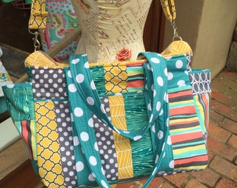 Watermelon Wishes Patchwork Diaper Bag Set