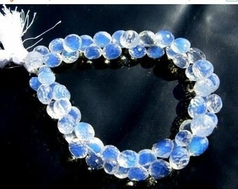 55% OFF SALE Full 8 Inches Strand - AAA Opalite Micro Faceted Onion Briolette Size 8 - 10mm approx, Set of 50 Stones Great Buy