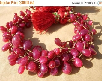 55% OFF SALE 8 Inches - Genuine Ruby Smooth Pear Briolettes Size 7x6 - 12x9mm approx Finest Quality Wholesale price
