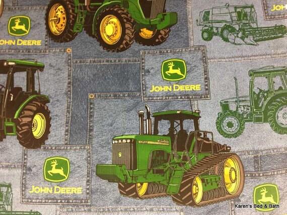 John Deere Fabric By The Yard Or Half Yard Big Farm Tractor