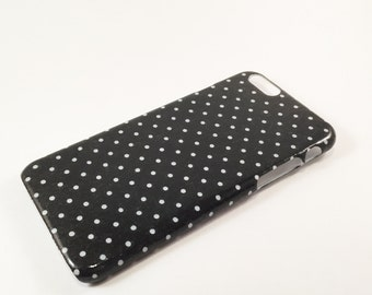 Black and White Polka Dot Phone Case - iPhone Case - Phone Back Cover
