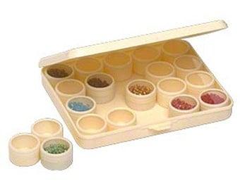 Seed Bead Plastic Storage Case - Small Item Organizer fnt