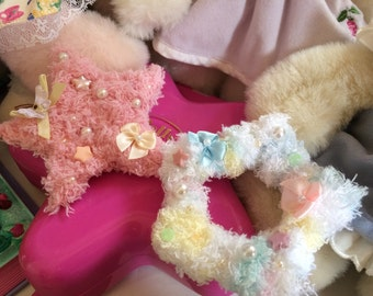Fuzzy Stars Fairy Kei Lolita Hair Clip Barrette