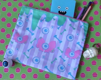 Creepy Cute All Over Print Clutch Pencil Case Cosmetic Bag