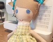 Reserve for Andrea- custom fabric doll