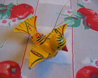 sweet little yellow bird ornament