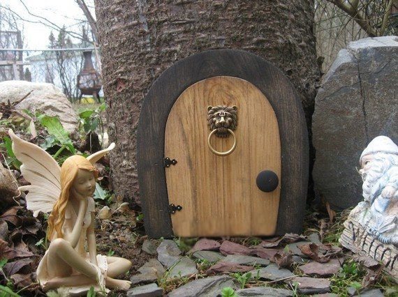 A fairy door gnome door that opens 9 inch rounded gnome for Large gnome doors