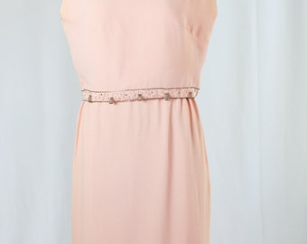 Haroni 60s Pink Beaded Dress