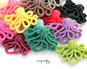 12pc spooky octopus cabochons, matte resin, flatback for gluing to hairpins and rings 35mm