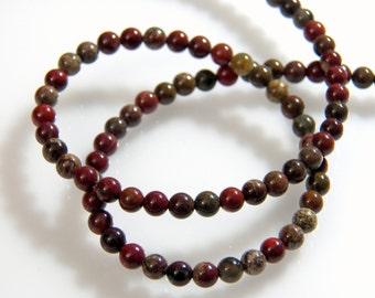 Rainbow FancyJasper 4mm Round Gemstone Beads