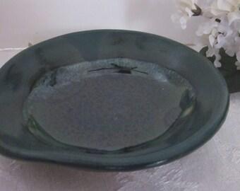 SPOON REST Deep Green Wheel Thrown Stoneware
