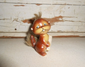 Vintage Enesco Furry Brown Chipmunk Figurine