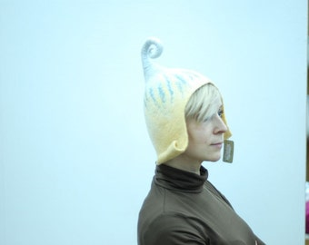 Ready to ship- Felted wool gnome hat, head 53-57cm (20.8-22.5in) last minute gift