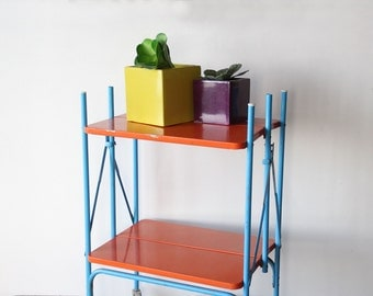Orange & Turquoise Bar Cart