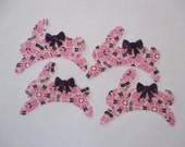 """9 Easter Bunny Appliques Iron On 4"""""""