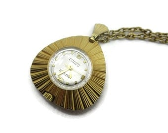 Swiss Watch Pendant - Mid Century, RUNS